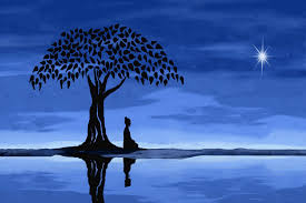 buddha under a tree